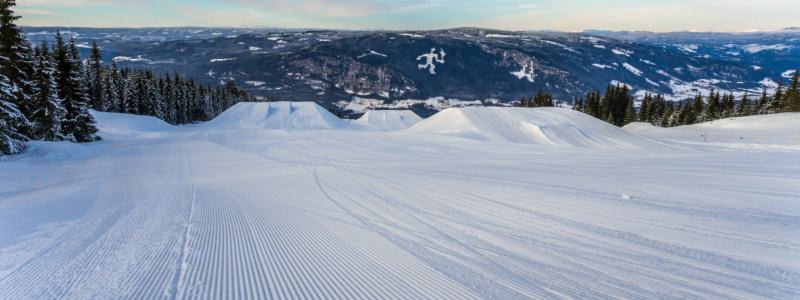 skiing in winter park